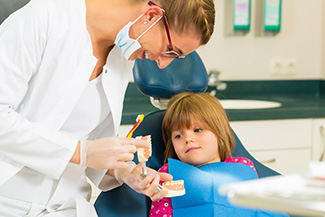 child in the dental chair